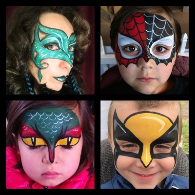 Mask face paintings by Maile
