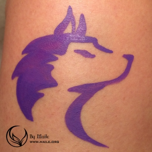 Husky face paint example