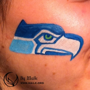 Seahawks logo pface paint example