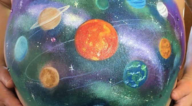 An Out-of-This-World Belly Paint